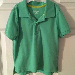 Boys 3T bright green polo shirt.